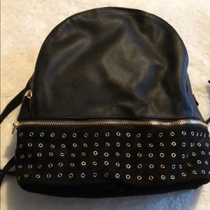 Fashion backpack black with gold